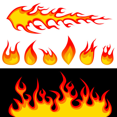 rod sign: fire graphic elements