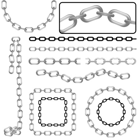 set of chain  Stock Vector - 8198156