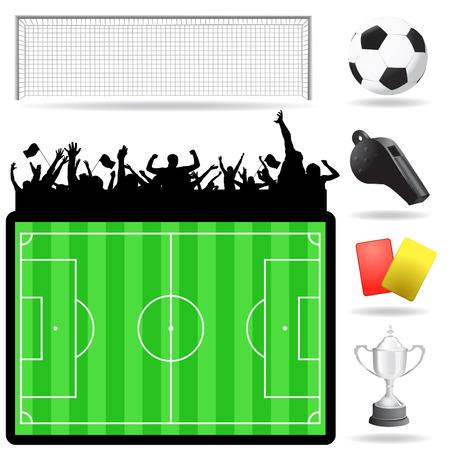 soccer great set  Stock Vector - 8198146