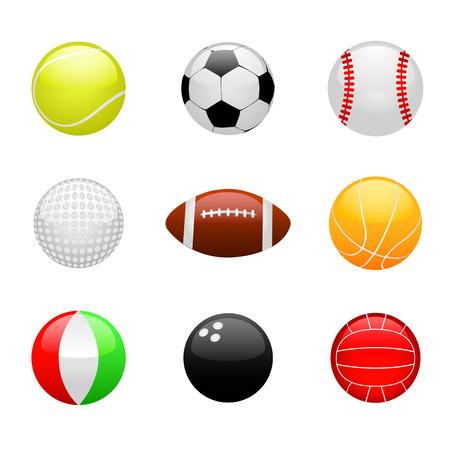 glossy ball set Stock Vector - 8198116
