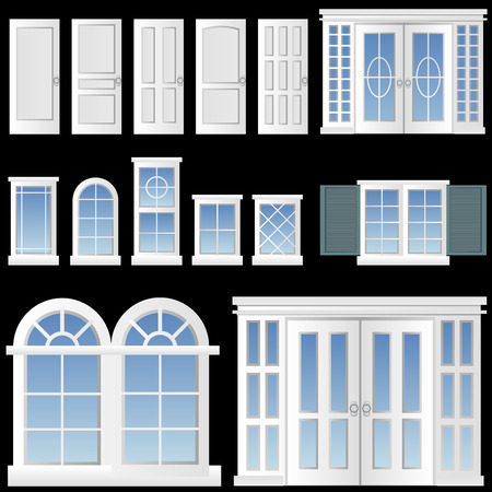 window and door   Stock Vector - 8198109