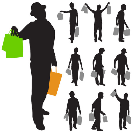 shopping man: shopping man   Illustration