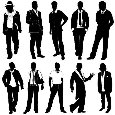 conjunto de moda hombre  Ilustración de vector