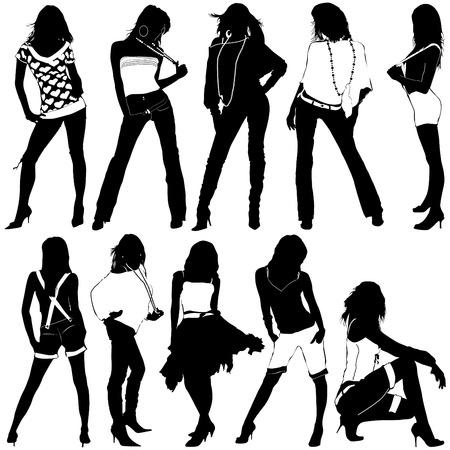 set of fashion women Stock Vector - 8229954