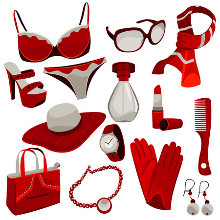 woman accessories  Stock Vector - 8229898