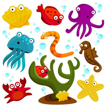 serpiente caricatura: dibujo animado de criaturas del mar