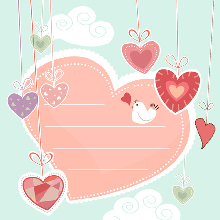 ribbon heart: decorative heart