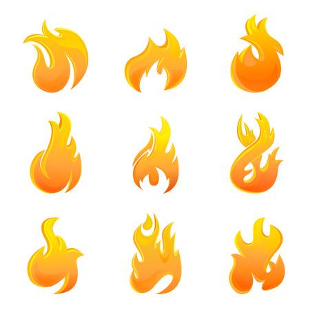 winter barbecue: fire symbol