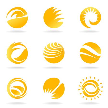 sun set: sun symbols
