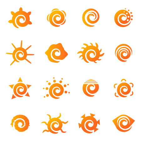 bird icon: sun icons set