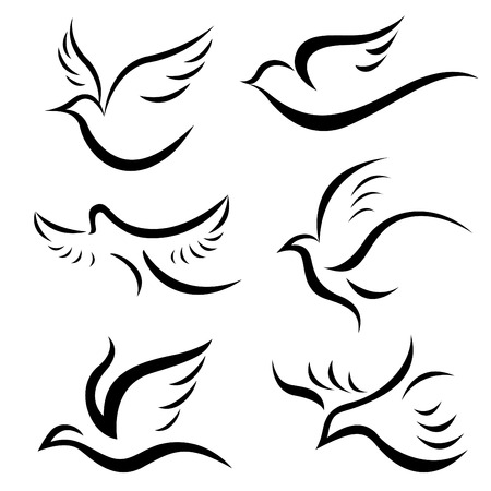 doves: bird set