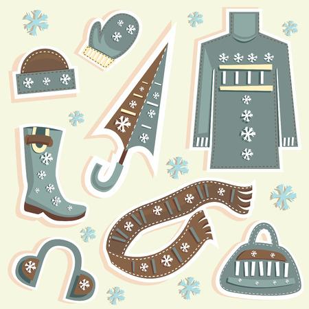 winter fashion  Vector