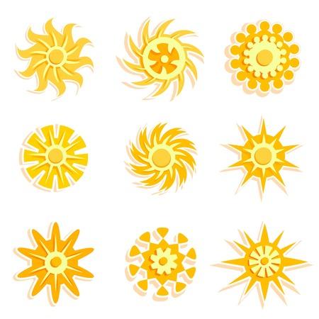 sun designs Stock Vector - 8229942