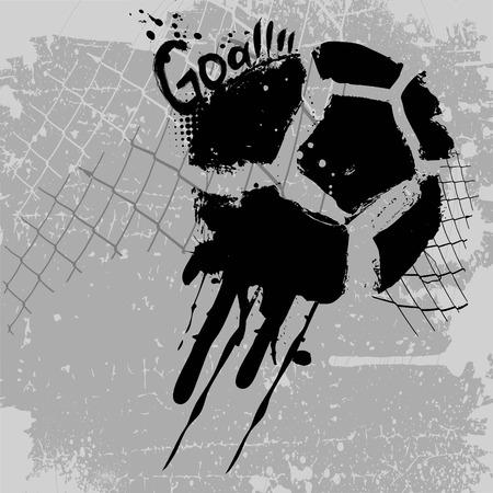 voetbal silhouet: doel  Stock Illustratie