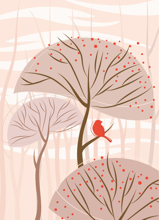 migrate: bird and tree