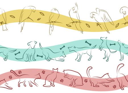 pet pattern  Vector