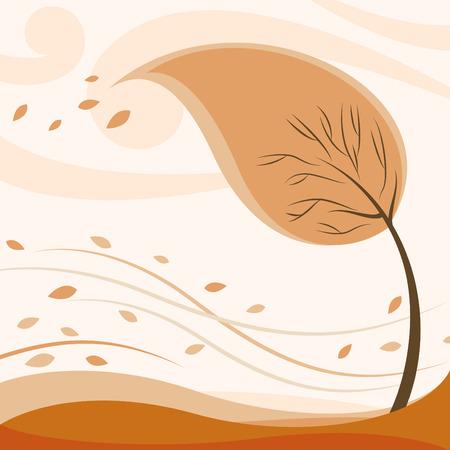 abstract autumn tree  Stock Vector - 8229971