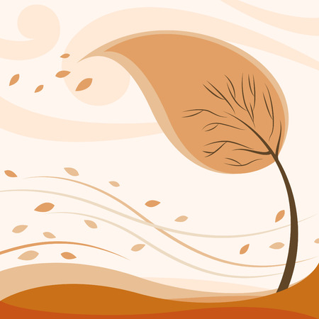 abstract autumn tree Stock Vector - 8229971