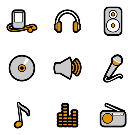 music object icon set  Stock Vector - 8229987