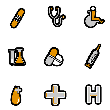 medical icon set Stock Vector - 8229992