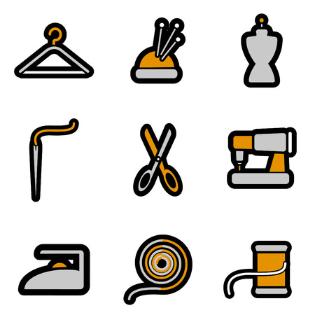 tailoring object icon set  Stock Vector - 8229988
