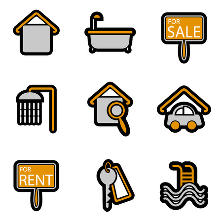 house object icon set  Stock Vector - 8229998