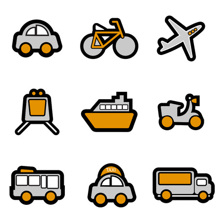 vehicles icon set  Stock Vector - 8229993