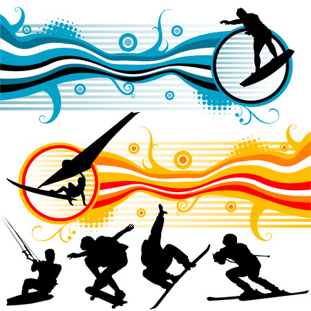 extreme sport graphics  Stock Vector - 8325139