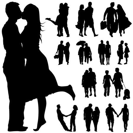 parejas caminando: personas de la pareja  Vectores