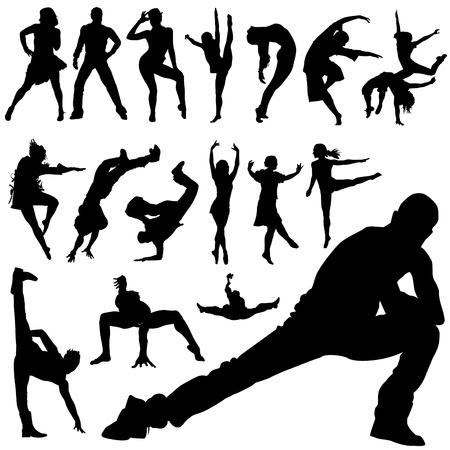 dancing people  Stock Vector - 8333920