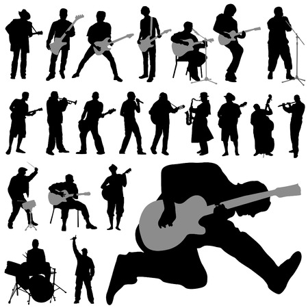 drummer: set of musician  Illustration