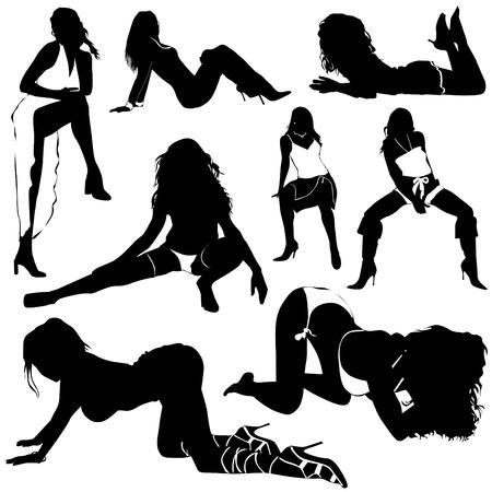 sexy vrouwen  Stock Illustratie