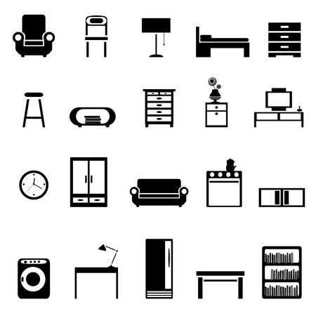 set of furniture icons Stock Vector - 8333862