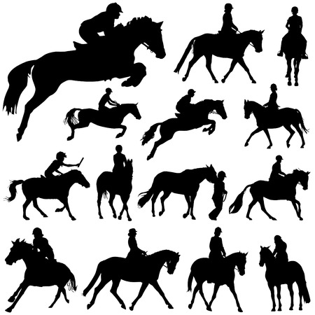 arabian horse: horses and riders  Illustration