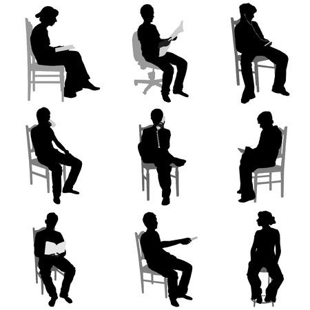 gente seduta Vettoriali