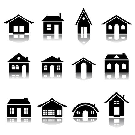 house icon set  Stock Vector - 8333861