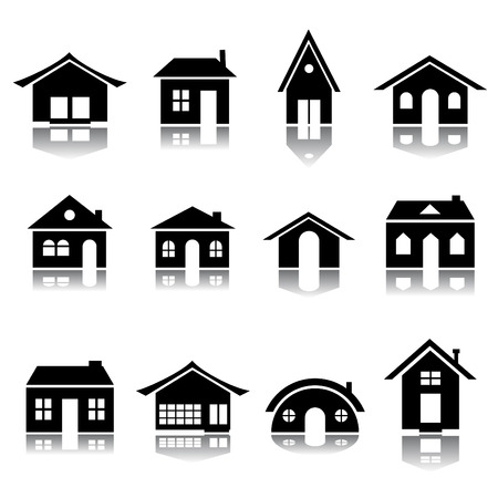 house icon set Stock Vector - 8333861