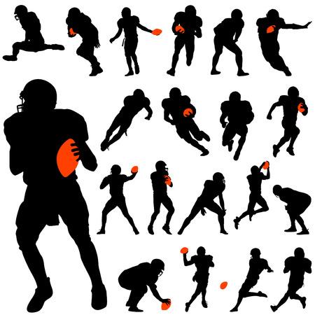 football silhouette: set di football americano