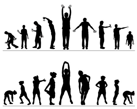 woman and man fitness Stock Vector - 8333850