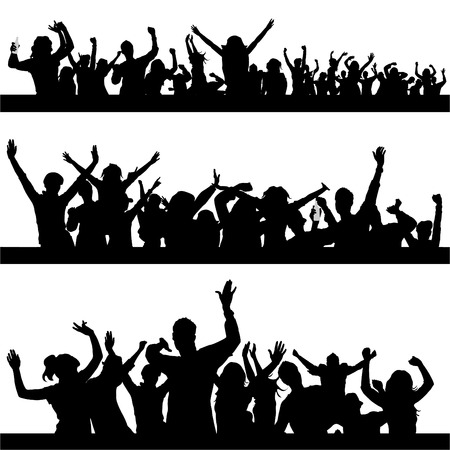 set of party peoples  Vector