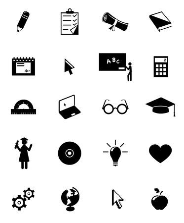 graduados: conjunto de iconos de educaci�n  Vectores