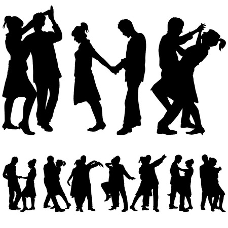 couple romantic dance  Vector