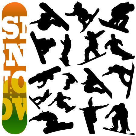 snowboarding: snowboard