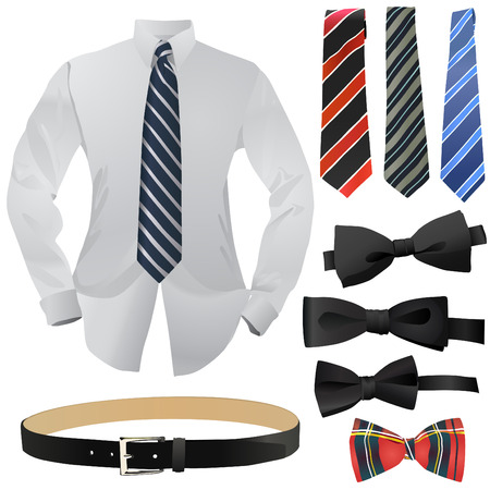 black tie: conjunto de la moda de negocio  Vectores