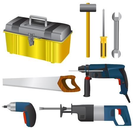 trabajo manual: conjunto de herramientas