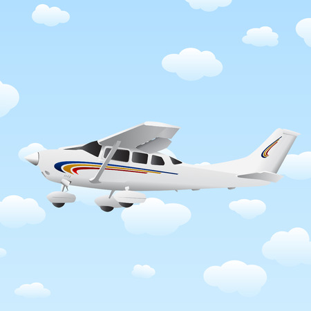 great detail airplane sky  Vector