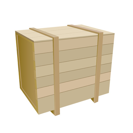 storage container: shipping box  Illustration