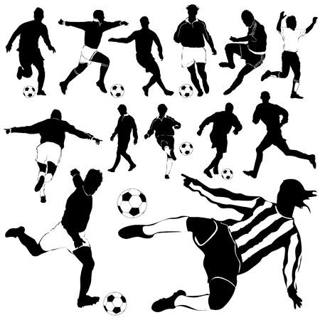 male feet: soccer player