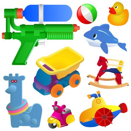 unterseeboot: gro�e Spielzeug-set  Illustration