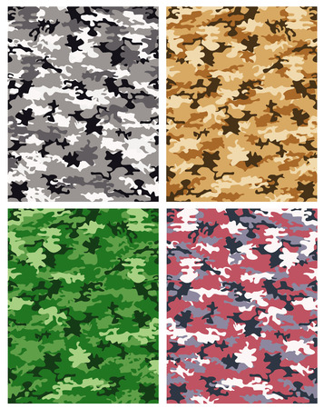 armed: camouflage pattern  Illustration